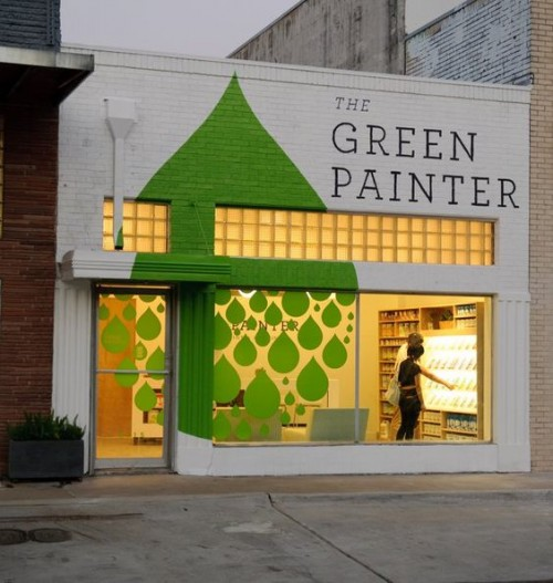 creative storefronts using paint