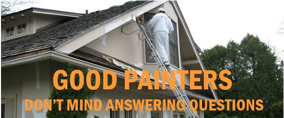 Good painters don't mind answering questions